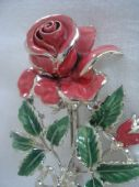 1960's Pink English Rose Brooch signed Exquisite (SOLD)